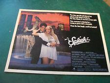 vintage movie poster: 1/2 sheet 1984 SPLASH tom hanks, daryl hannah, levy, candy