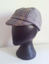 Unique Handmade Harris Tweed Cycling Cap (grey and dogtooth.)