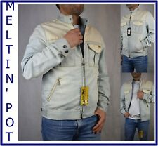 Meltin pot giubbotto jeans da uomo vintage giubbino giacca denim jacket cotone S