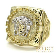 6.50 Grams 10k Yellow Real Gold Mens Greek God Head Hip Hop Greek Ring