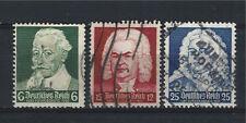 Germany 1935, Sc # 456-458 Schutz, Bach, Handel, Full set, Used