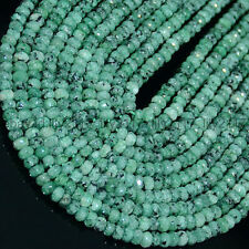 Beautiful! 2x4mm Faceted Zoisite Roundlle Gemstones  Loose Beads 15 Inch