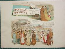 1898 RANDOLPH CALDECOTT STAMPA ~ MR DI CHUMLEY VACANZE MARE CLIFF MAGLIA