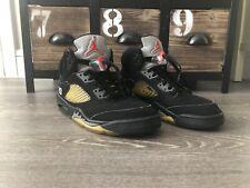 Nike Air Jordan Retro 5 Metallic Black 2006 Size 9.5