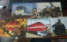Hungary 5 locomotive steam diesel  from 1980s-1990s period unused