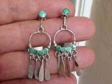 Vintage Navajo Silver & Turquoise  Earrings