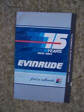 1984 Evinrude 65 Commercial Outboard Motor Owner Operator Manual MORE IN STORE S