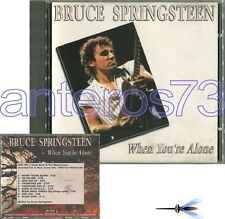 """BRUCE SPRINGSTEEN """"WHEN YOU'RE ALONE"""" RARE CD LIVE ITALY ONLY"""