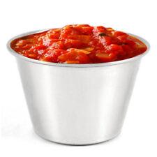 20 Stainless Steel Ramekins 2.5oz - Dip Bowl Sauce Condiment Bowls Pots Pack