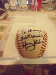 Harry Kalas Autographed Diamond DBR BABE RUTH LEAGUE BASEBALL