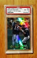 1998 Topps Gold Label #20 PEYTON MANNING Rookie Colts PSA 8