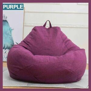 Micro suede Giant foam soft bean bag Living room memory chair lazy sofa cover