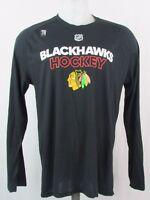 Chicago Blackhawks NHL Men's adidas Ultimate Long Sleeve Black Tee