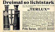 Fritz Saran Optische Anstalt Rathenow PRISMENGLAS 1905