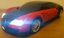 BUGATTI VEYRON RADIO REMOTE CONTROL CAR 1:16 FAST SPEED -25CM  BLACK RED
