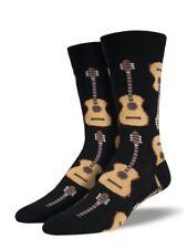 Black Mens Boys Guitar Socks Guitars Music Secret Santa Novelty Gift Socksmith