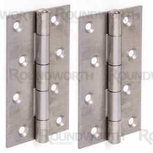 4x NARROW 125mm BUTT HINGE Large Heavy Duty Strong Gate Shed Door Frame Hang Set