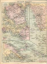 Carta geografica antica COLONIE TEDESCHE AFRICA e OCEANIA 1890 Old antique map