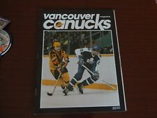 1983 Vancouver Canucks program vs TORONTO MAPLE LEAFS vol.14 no.3 Excellent*
