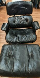 Charles Eames Herman Miller Lounge Chair/Ottoman 1964-70 Goose Down Mid Century