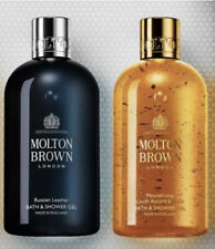 Molton Brown Woddy Gift Set For Him Russian Leather & Oudh Accord Shower Gel Set