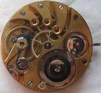 Longines Chronometre cal. 19.70N Pocket Watch movement & enamel dial stem to 3