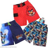 Boys Marvel Spiderman Comic Strip Skylanders Angry Birds Swimming Board Shorts