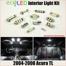 For 2004-2008 Acura TL WHITE LED Interior Light Replacement Package Kit 13 Bulbs