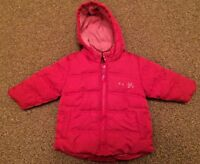Girls Next Pink Padded Hooded Coat Size 6-9 Months B7