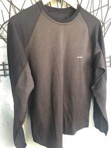 Patagonia Capilene Long Sleeve Shirt MEDIUM Men's Brown