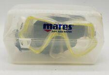 Mares X-vision Yellow Mask Scuba Diving Dive Goggles + Aquaseal Sea Drops