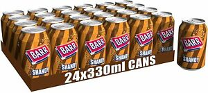Barr Shandy Fizzy Drink Cans, 330ml, (Pack of 24)