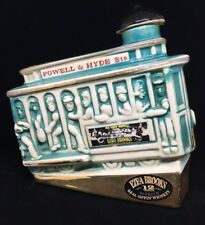 EZRA BROOKS DECANTER 1968 Real Sipping Whiskey Powell & Hyde Sts Trolley