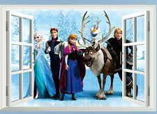 Frozen Wall Art Sticker Mural Disney Characters Elsa Anna Olaf Hans Princess