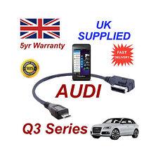 AUDI Q3 SERIE 4F0051510M per BLACKBERRY Z10 MICRO USB Cavo audio 30 cm
