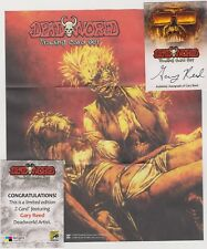 DEADWORLD TRADING CARDS GARY REED AUTOGRAPH FOLD OUT Z-CARD SAN DIEGO COMIC CON