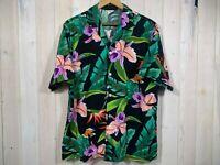 Vintage Angelica Hawaiian Tropical Palm Tree Floral Trump Casino Mens L D58