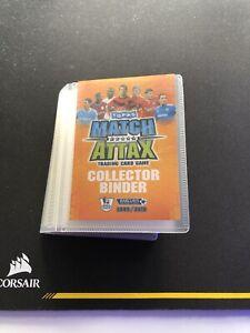 Match Attax 09/10 Mini Binder W/ Cards Included *super rare*