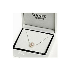 Akoya Culturedpearl necklace 925 silver chain single-hole pendant 8-9 mm