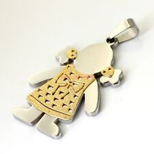 Lot 5pcs in bulk Baby girls pendant stainless steel Gold Plated Hot sale Jewelry