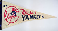1969 Yankees Autographed Pennant - DiMaggio Stengel Rizzuto Musial Koufax  MORE