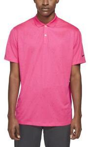 Nike Men's Victory Micro Print Golf Polo Shirt (Hyper Pink) CU9843-639