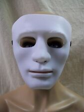 Creepy Matte White Blank Face Costume Mask Purge Faceless Stalker Dancer Mime