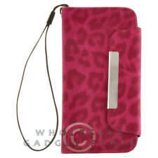 Apple iPhone 5C/i5C/Lite Wallet Pouch Leopard Hot Pink Case Cover Shell Shield
