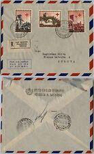 SAN MARINO-FDC Croce Rossa(S.71)-Raccomandata x Genova 15.3.1951