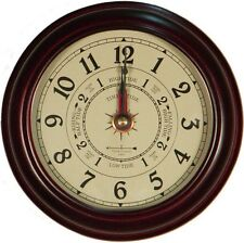 "6"" CHERRY TIDE & TIME CLOCK BY WEST & CO."