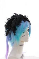 Lh-03-03 Nero per Capelli Gioielli fiocco pizzo gothic dark lolita capelli maturi Maid