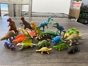 Vintage Dinosaurs Lot of 20 Mini Figures Rubber/ Plastic Collectible!!! LOT 3