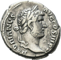 DIONYSOS Hadrianus AR-Denar Rom Tellus #LH 2185