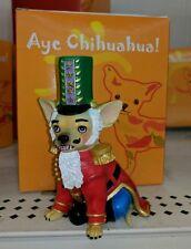 Aye Chihuahua Dog Figurine Christmas Nutcracker Statue Westland Holiday Nib New
